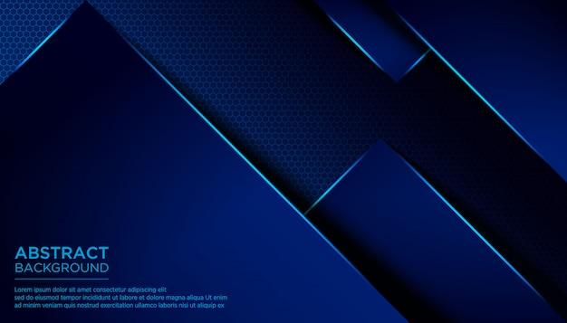 Modèle de fond bleu foncé abstrait triangle