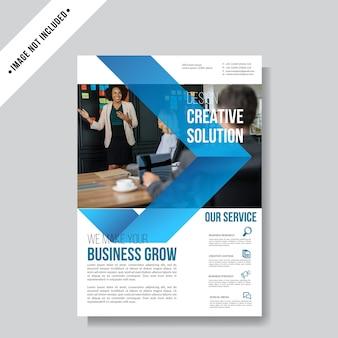 Modèle de fond business flyer layout
