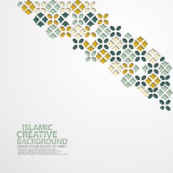 Modèle de fond de carte de voeux de conception islamique