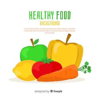 Modèle de fond coloré des aliments sains