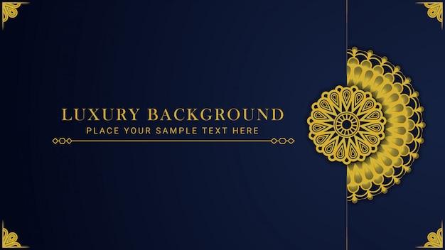 Modèle de fond de conception de mandala modèle de luxe