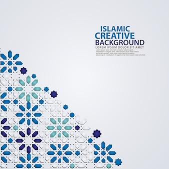 Modèle de fond créatif islamique élégant avec mosaïque colorée ornementale