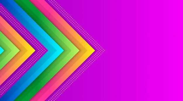 Modèle de fond de dégradé coloré géométrique