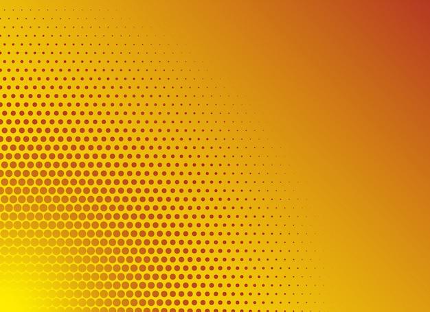 Modèle de fond de demi-teintes dégradé jaune