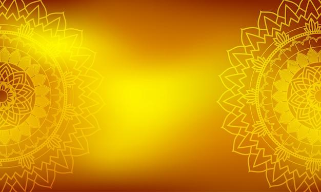 Modèle de fond avec des dessins de mandala