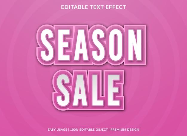 Modèle de fond d'effet de texte de vente de saison vecteur premium
