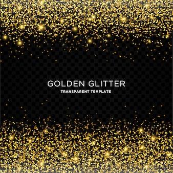 Modèle de fond étoile d'or paillettes