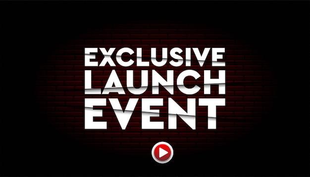 Modèle de fond d'événement de lancement exclusif.