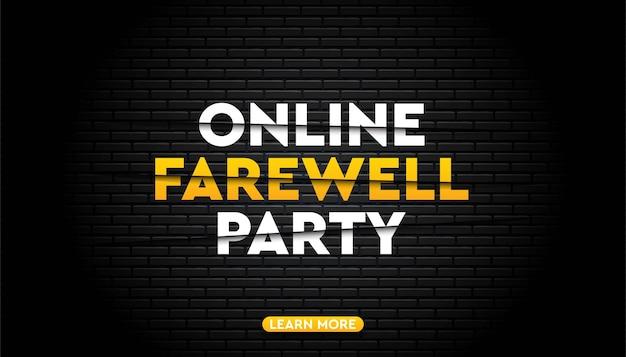 Modèle de fond de fête d'adieu en ligne