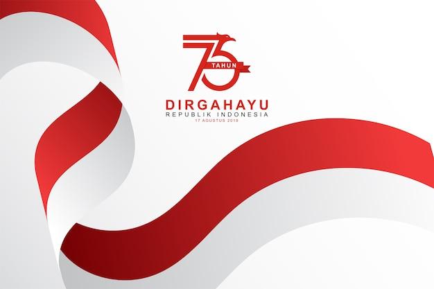 Modèle de fond de fête de l'indépendance indonésienne