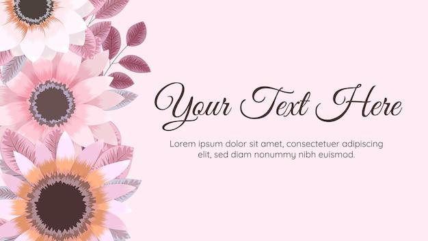 Modèle de fond de fleurs en fleurs avec place pour vos éléments floraux de texte laisse des vignes