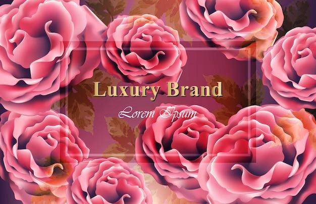 Modèle de fond de fleurs roses vector. fleurs 3d réalistes