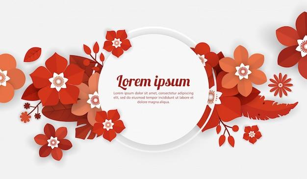 Modèle de fond floral pour la célébration, les événements shopping, vacances et voeux, cartes d'invitation