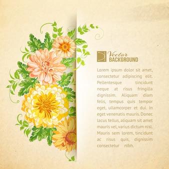 Modèle de fond floral