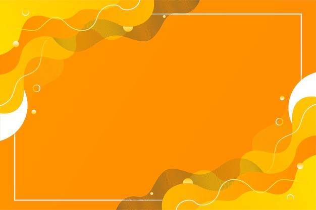 Modèle de fond de flux de liquide abstrait orange vif