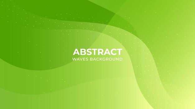 Modèle de fond de formes dégradé vert coloré