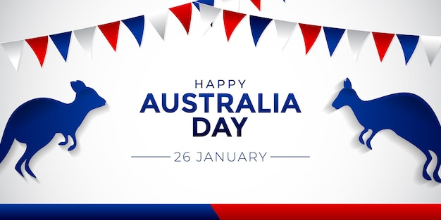 Modèle de fond happy australia day