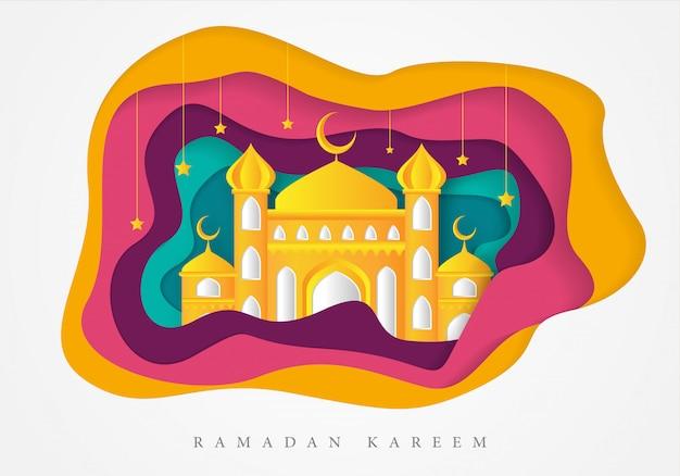 Modèle de fond islamique ramadan kareem