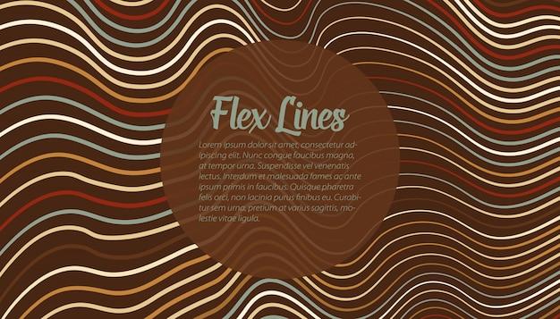 Modèle de fond de lignes déformées