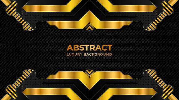 Modèle De Fond De Luxe Abstrait Avec Des Formes Géométriques Vecteur Premium