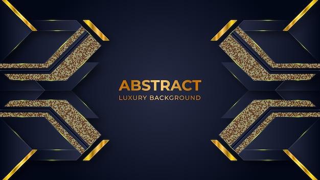 Modèle de fond de luxe abstrait avec des formes géométriques