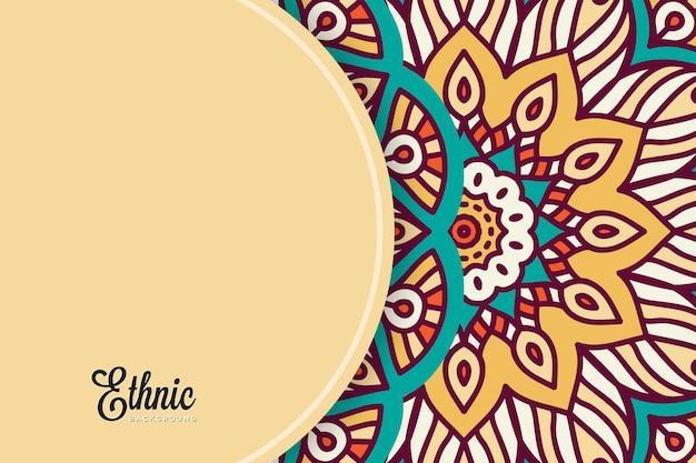 Modèle De Fond De Mandala Coloré Vecteur gratuit