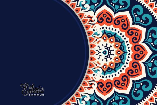 Modèle de fond de mandala coloré