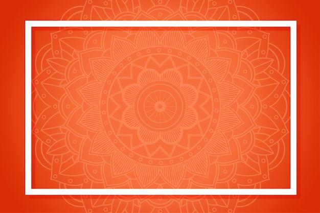 Modèle de fond avec des motifs de mandala