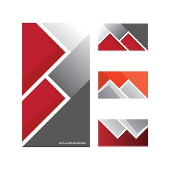 Modèle de fond noir et rouge pour résumé de conception de bannières et d'affiches