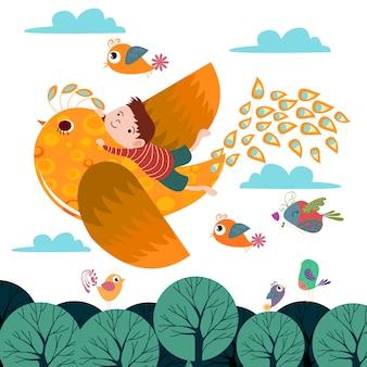Modèle de fond oiseaux fond oiseaux de rêve