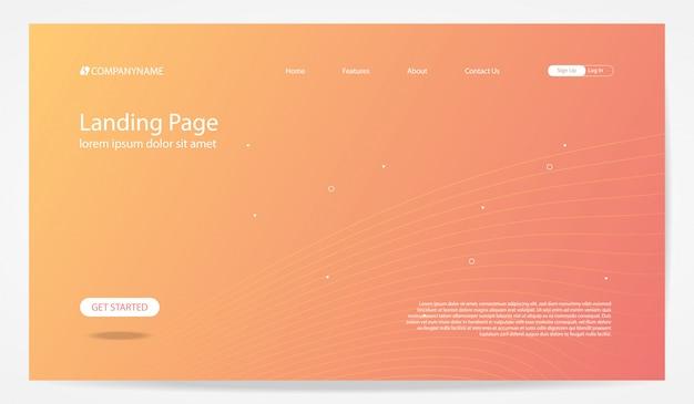 Modèle de fond de page de destination