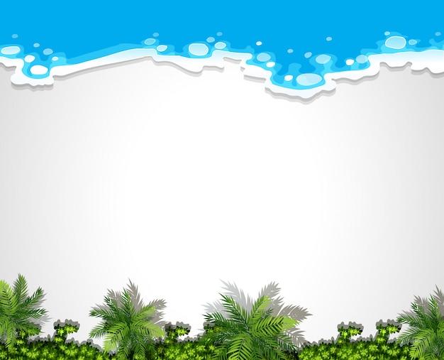 Modèle de fond de plage aérienne blanc