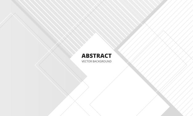 Modèle de fond de présentation d'entreprise de conception graphique abstraite géométrique blanche