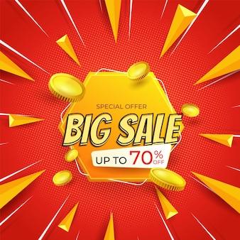Modèle de fond et de promotion de grande vente