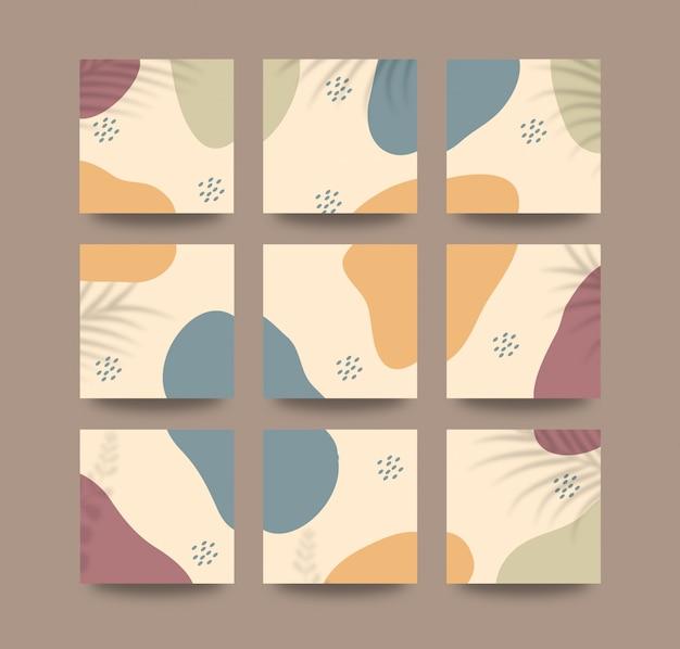 Modèle de fond de publication de médias sociaux dans le style de puzzle de grille