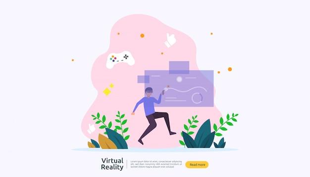 Modèle de fond de réalité augmentée virtuelle