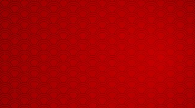 Modèle de fond rouge avec des motifs de vagues