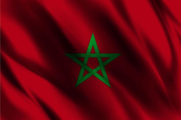 Modèle de fond de soie drapeau marocain