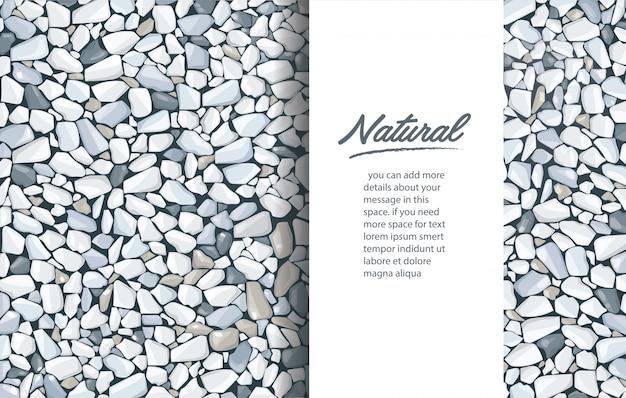 Modèle de fond de texture de gravier gris