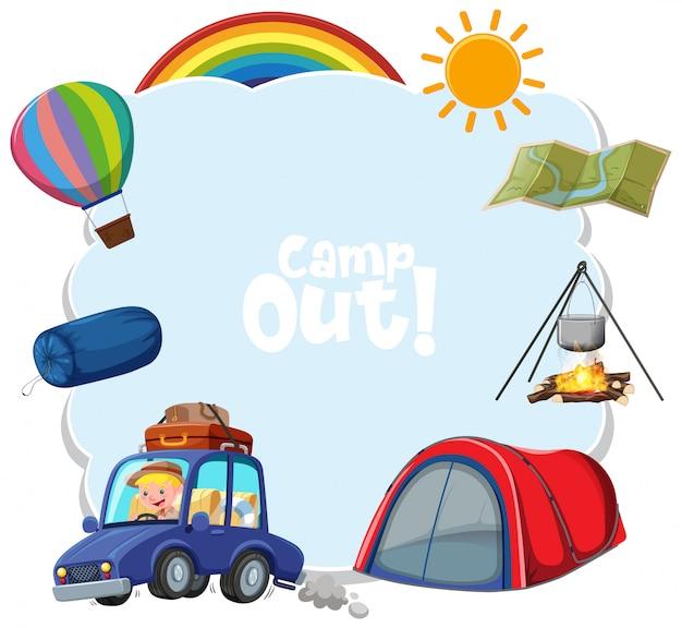 Modèle de fond avec thème camping