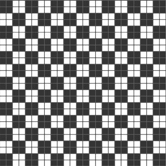 Modèle de fond de tuile d'échecs rectangle de texture noir et blanc