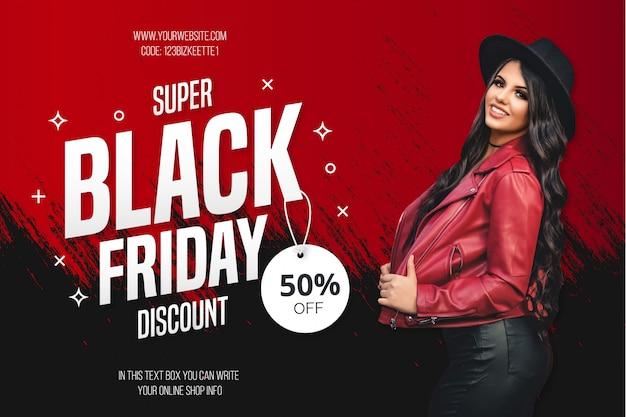 Modèle de fond de vente vendredi noir moderne