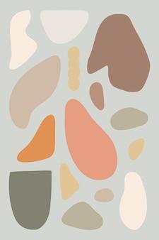 Modèle de forme libre colorée