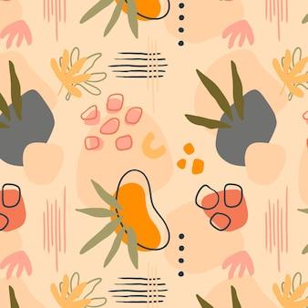 Modèle de formes abstraites design plat dessinés à la main