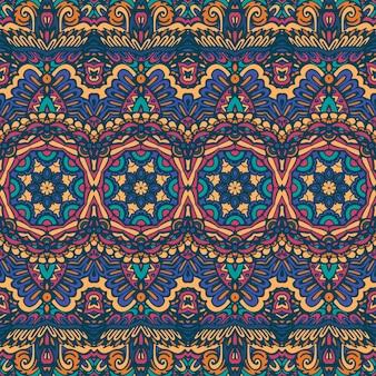Modèle de formes géométriques colorées sans couture tribal