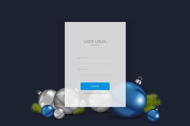 Modèle de formulaire d'inscription ou de connexion à la page de destination