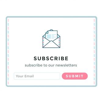Modèle de formulaire d'inscription par courrier électronique.