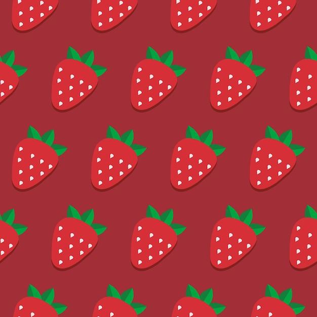 Modèle de fraise vectorielle continue. conception pour papier peint, textile, papier d'emballage, emballage.