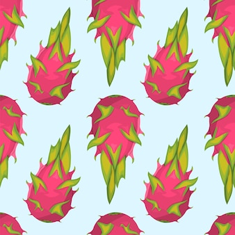 Modèle de fruit du dragon tropical exotique.