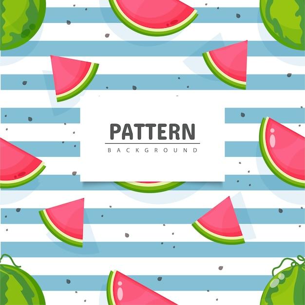 Modèle de fruits pastèque sans soudure